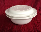 Vintage Tupperware Ultra 21 Covered 2 Quart Casserole Set For Oven and Microwave 2 piece casserole and lid