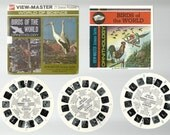 Birds of the World Viewmaster Reels B678 GAF View-master set World of Science Ornithology includes booklet 3 reels and packet 1968