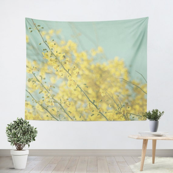 Art Wall Tapestry Sunny Blooms 3 Fine Art Modern Flower