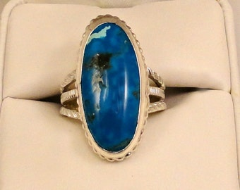 Imperial Blue Jasper and Sterling Silver Ring