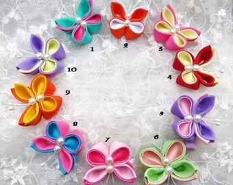 Kanzashi Butterfly Hair clip Select Color Combination