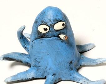 BAD SQUID squid sculpture