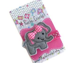 Elephant hair clip, baby hair clip, elephant baby clip, toddler hair clip, hair accessory, baby accessory, hair clippies, baby barrettes