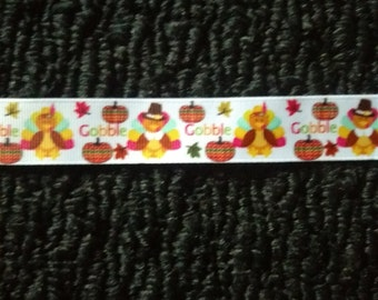 "7/8"" Turkey Grosgrain Ribbon - 5 Yards"