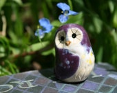 Aurora the Clay Purple Owl: Harry Potter Inspired Owlery