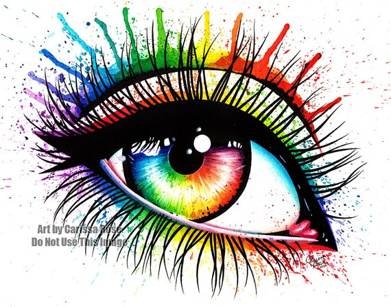 Rainbow Watercolor Eye   www.imgkid.com - The Image Kid ...