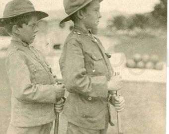 Vintage Photo, Boys in Military Uniforms, Black & White Photo, Found Photo, Antique Photo, Vernacular Photo, Scout Uniform   Jones150.jpg