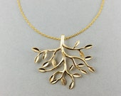 Gold tree necklace, tree pendant, tree of life necklace, tree necklace, gifts for sister, woodland jewelry, gold necklace, mom's gifts