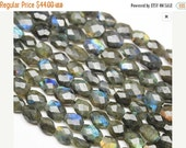 VALENTINE SALE 55% Blue Fire Labradorite Faceted Oval Nuggets Beads Strand, 9-10mm, 10 inches, SKU/F