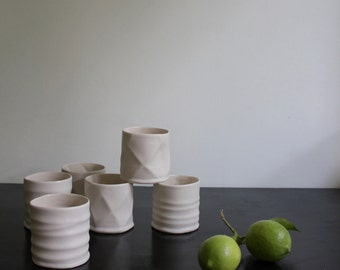 porcelain textured tumblers