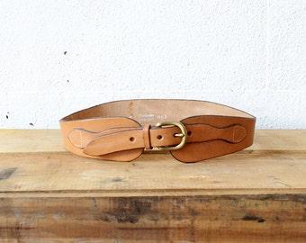 Camel Harness Belt • Saddle Leather Belt • 70s Belt • High Waist Belt • Top Grain Cowhide Boho Belt • Tan Leather Festival Belt | BT273