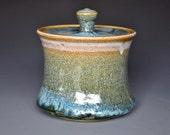 River Stone Ceramic Jar Blue Pottery Jar Stoneware Handmade Jar C