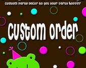 Reserved Custom Listing for Nancy Burton - Elephant Baby Shower