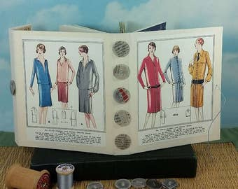 Ladies Workday Fashion Journal with Vintage 1920's Sewing Pattern Wraparound Cover