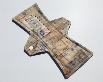 10 Inch Cloth Menstrual Pad Regular Flow Airmail Letters