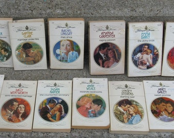 vintage harlequin romance collection 15 paperbacks 70s  early 80s mid century romance
