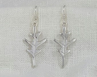Hand Crafted Solid Sterling Silver Oakleaf Earrings