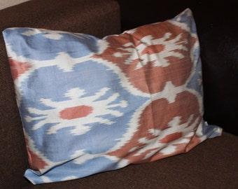 Silk ikat lumbar pillow case, cushion. Accent pillow