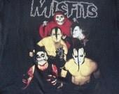 Misfits Vintage 90's Michale Graves era Danzig Horror Punk Rock concert tour here comes the dead T shirt XL
