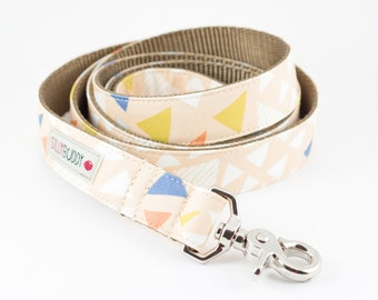 Pale Peach Triangle Dog Leash