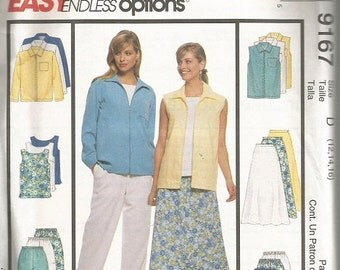 McCall's 9167 Easy Endless Options Separates Pattern SZ 12-16