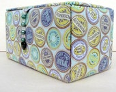 Fabric covered sewing storage box or craft box