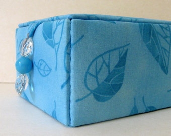 turquoise jewelry storage box, keepsakes box or decorative storage box