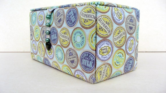 Fabric covered sewing storage box or craft box by hazelgibbs for Fabric covered boxes craft