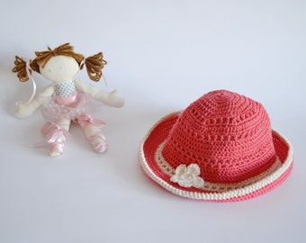 Baby Hat for girls Newborn baby hat Crocheted infant hat Pink girls hat 3 to 6 months