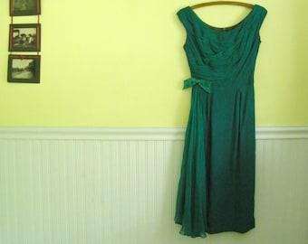 SALE Vintage Kay Selig Cocktail Dress, XS