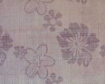 SALE Printed Sinamay Fabric - Floral print WAS 16.50 NOW 12.50