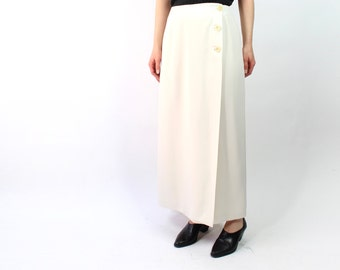 VINTAGE Ivory Skirt Long Wrap