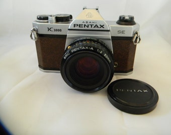 Pentax K1000 SE Brown Body Excellent With SMC Pentax-A F:2 50MM Lens