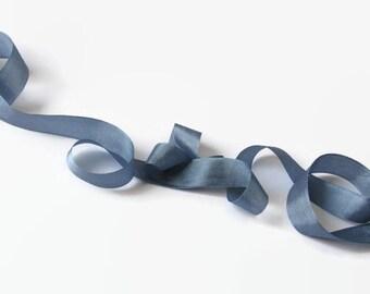 "Dusk Blue Seam Binding Ribbon - Vintage Original Hug Snug - 3 / 6 / 12 Yards - Dusty Steel Blue - Packaging - Gift Wrap - 1/2"" Trim - Craft"