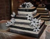 Origami Flower Cake Toppers 5 Customized