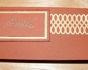 "Item 1203 ""Money Book"" Cover Paprika and Metallic Gold"
