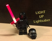 Star Wars Kylo Ren Cross Lightup Lightsabers - ( Lego compatible Kylo Ren minifigures included)