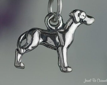 Small Sterling Silver Great Dane Charm Dog Breed 3D Solid .925