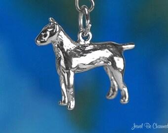 Sterling Silver Doberman Pinscher Charm Dog Breed Dobie 3D Solid .925