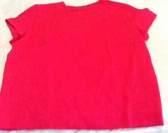Vintage MACY ASSOCIATES Pink Wool Cap Sleeve Sweater Belgium