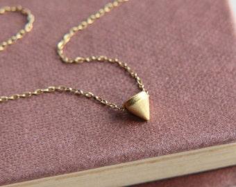 SALE, Spike Necklace, Spike Pendant Necklace, Tribal Necklace, Spike Jewelry, Boho Necklace, Festival Jewelry, Tiny Spike,Everyday Jewelry