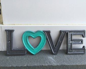 Cast Iron Wall Decor / LoVe Sign /  Pick your CoLOr