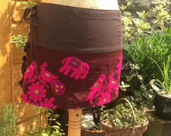 Hand Embroidered Rajasthani Mini Skirt, Pixie Skirt