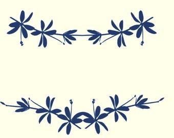"""J997 Rolling Mill (Leaf Silhouette 2) 5"""" x 7"""" Rollerprint pattern"""