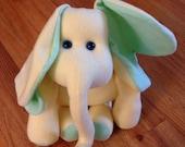 Yellow elephant - stuffed animal