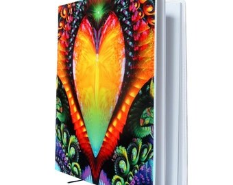 "Large Sketchbook, Rainbow Notebook, Love Book,  Angel Art Journal ""Universal Love"""