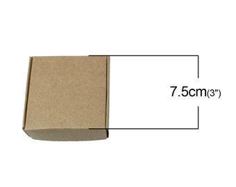 10 pcs. Paper Boxes Cases - 75mm x 75mm x 30mm (2.95in x 2.95in x 1.18in)
