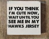Hawks Decor, Sports Wall Decor, Hockey Nursery Idea, Baby Boy Hockey Gift, Hockey Baby Shower, Gift for Hawks fan