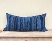 "16"" x 32"" Ethnic Hmong Homespun Cotton Hand Print Pillow Case Pieces Of Tribal Costume eco friendly"