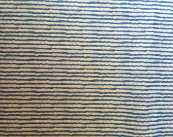 "Blue stripe fabric cotton 42"" inch"